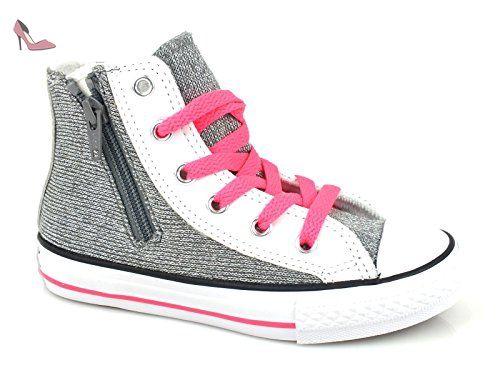 Converse Chuck Taylor All Star Hi Side Zip Textile Glitter ...
