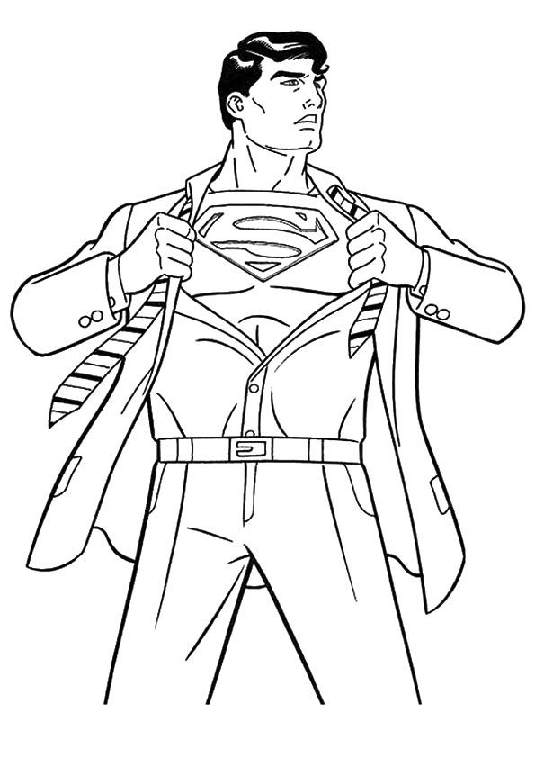 30 Simple Superman Coloring Pages Your Toddler Will Love Superman Coloring Pages Superhero Coloring Coloring Pages