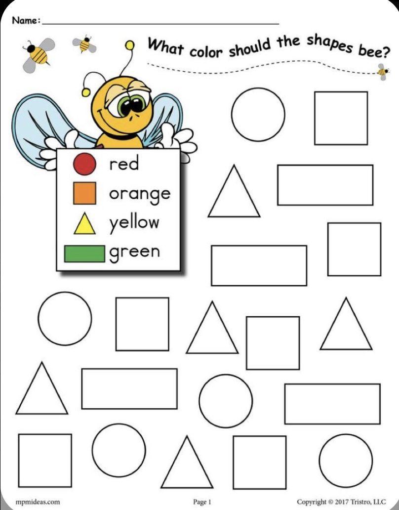 Pin by Monicawalkswitfaith on Preschool in 2020 Shape