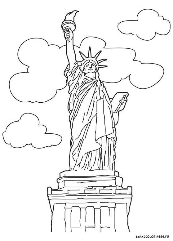 coloriage Statue de la Liberté a new york | coloriage | Pinterest