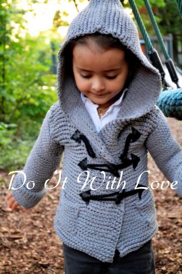 Häkle Deinem Kind Einen Tollen Kinder Mantel Duffle Coat Das