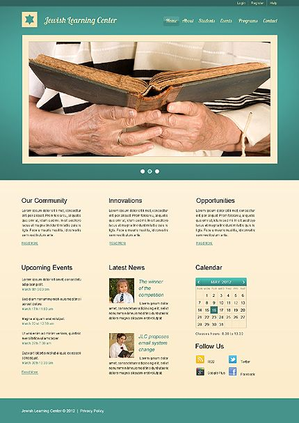 Template 40048 - Jewish Learning Website Template   Church ...