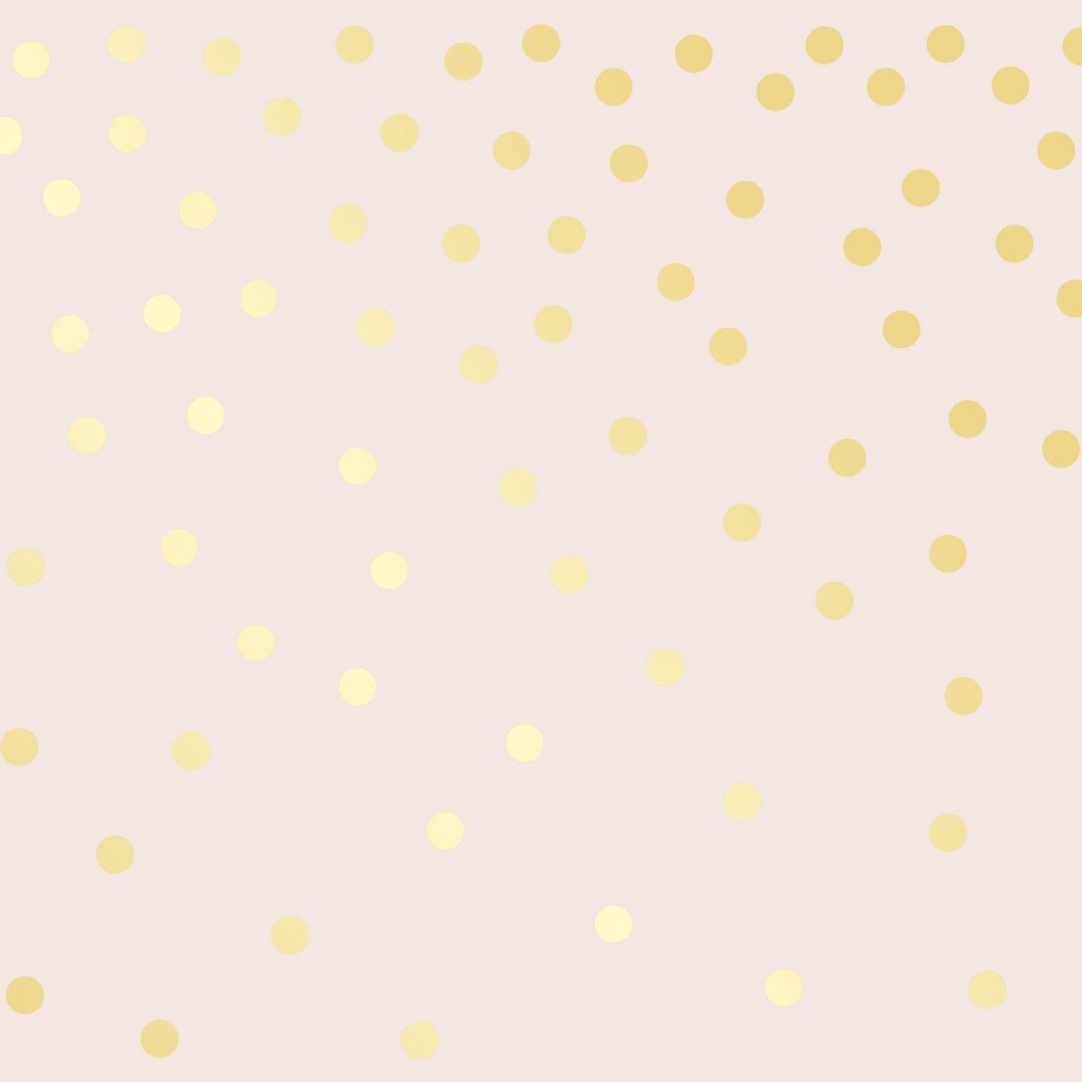 FALLING DOTS Powder Pink & Metallic Gold Stripe