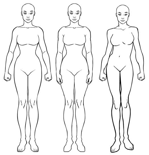 Hm3 Female Update Update Body Outline Body Shape Drawing Body Template