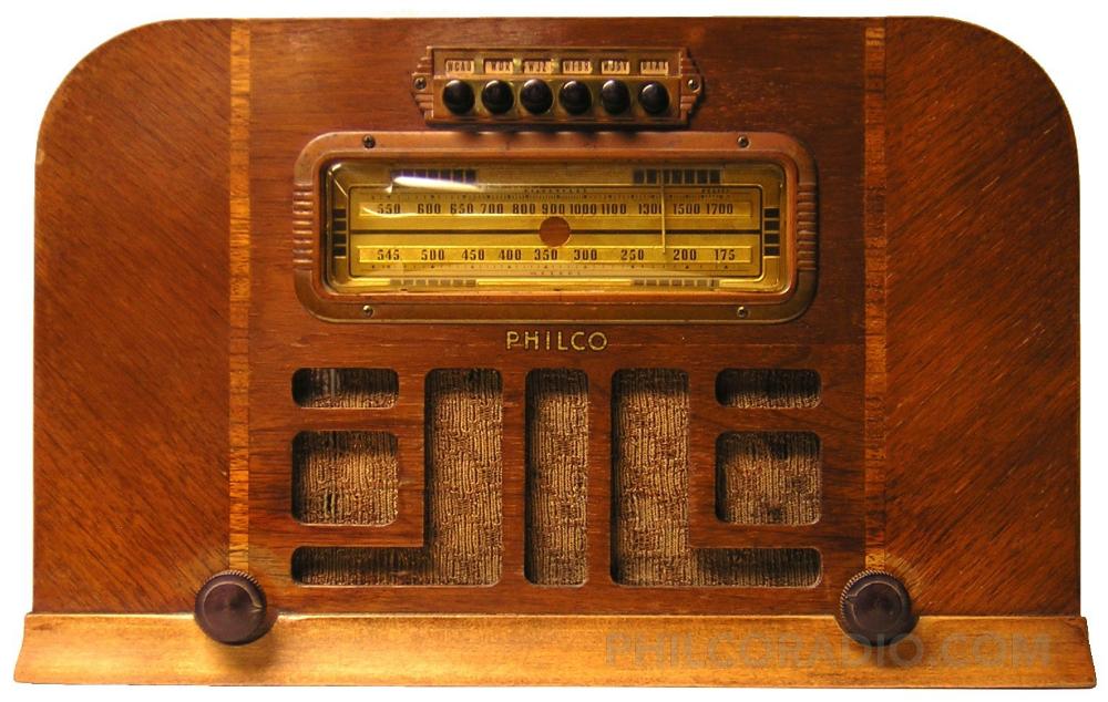 Philco Model 40 100t Battery Operated Am Radio 1940 Antique Radio Vintage Radio Old Radios