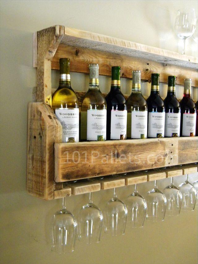 Easy To Create Pallet Wood Wine Rack Houten Wijnrekken Wijnrek