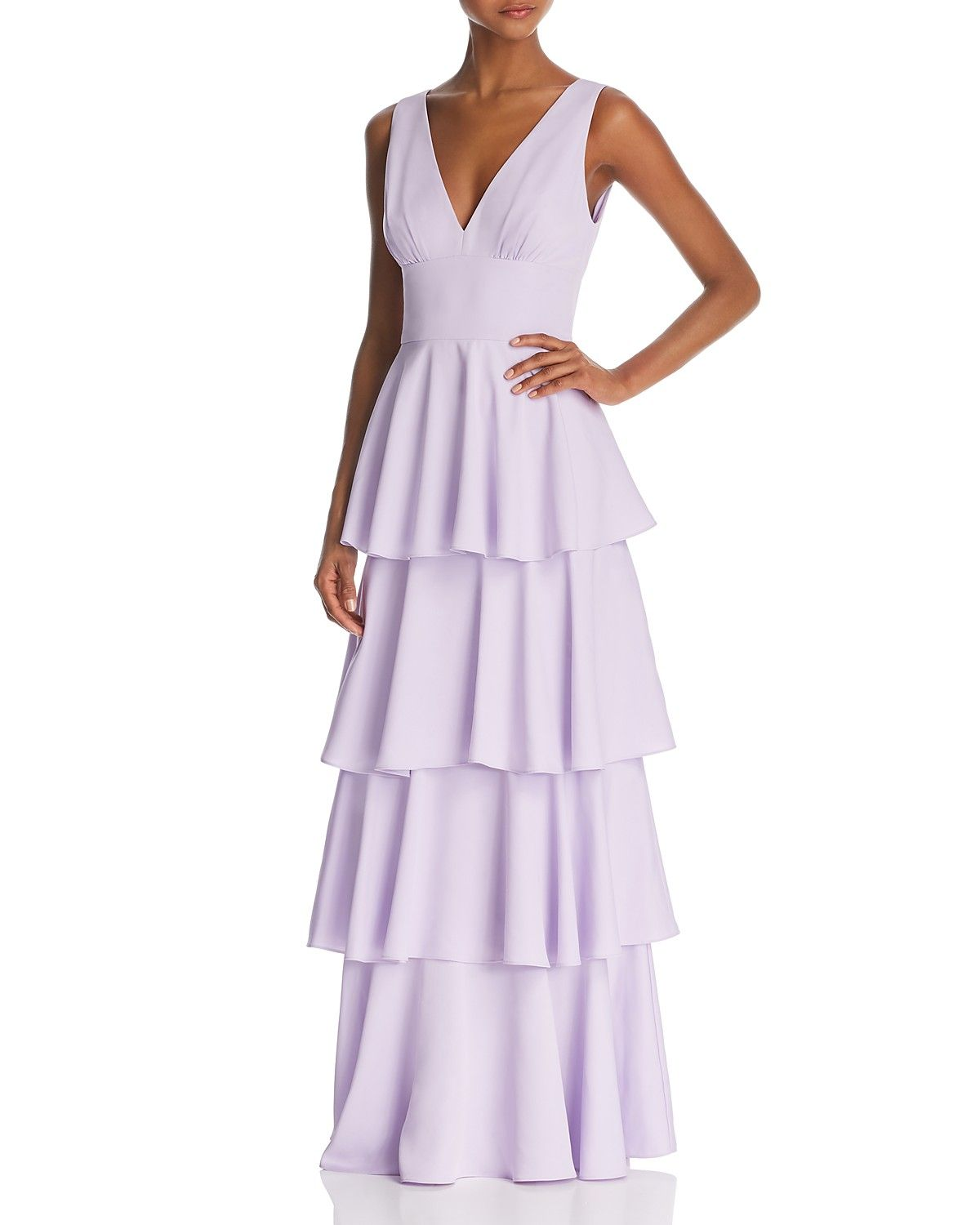 Nicole Miller New York Sleeveless Tiered Gown 100 Exclusive Women Bloomingdale S Formal Dresses Gowns Strapless Casual Dress Formal Dresses [ 1500 x 1200 Pixel ]