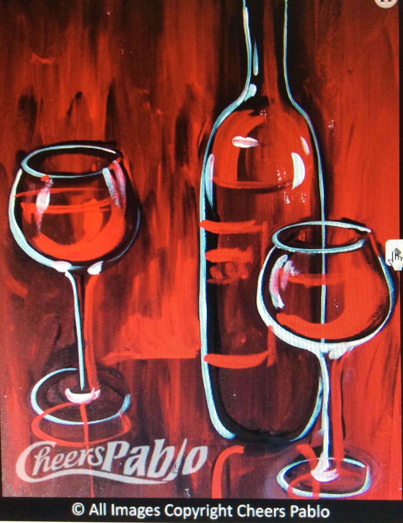 Red Wine Cheers Pablo Cheers Pablo Painting Inspiration Painting