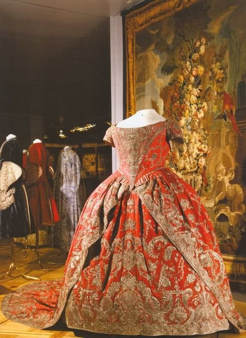 Red Coronation Dress Of Empress Catherine The Great