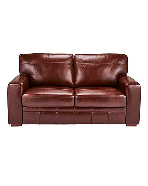 Salisbury Leather 2 Seater Sofa Home Essentials Chair Bed