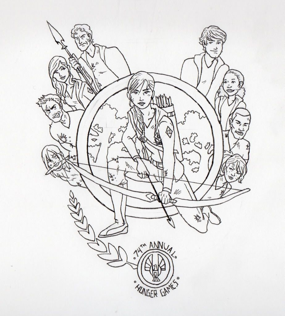 Colouring in pages games - The Hunger Games Coloring Pages For Kids To Print
