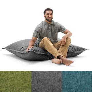BeanSack Big Joe Lux Polyester Large Floor Pillow Bean Bag (Pacific ...