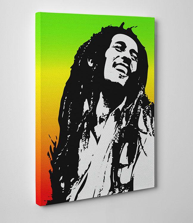 Reggae King Bob marley wall  high quality cloth Canvas print art gift
