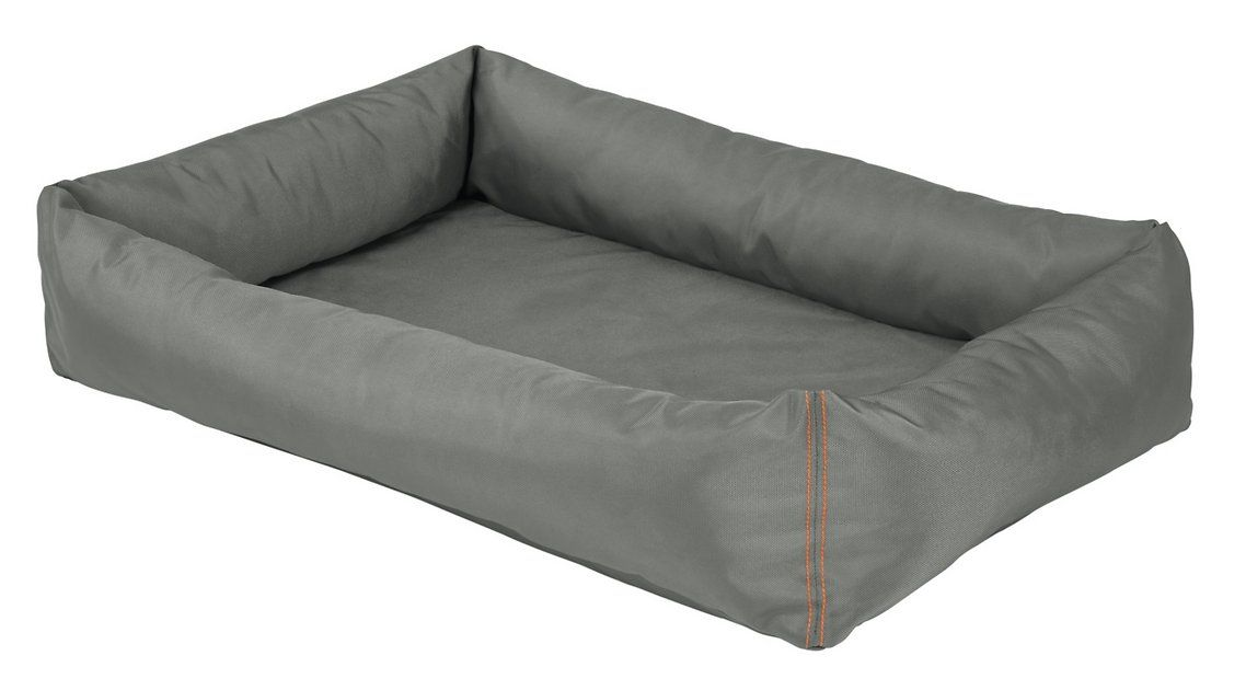 Buy Helix Durable Bolster Rectangular Dog Bed Dark Gray X Large At Chewy Com Free Shipping And The Best Customer Dog Bed Rectangular Dog Bed Bolster Dog Bed