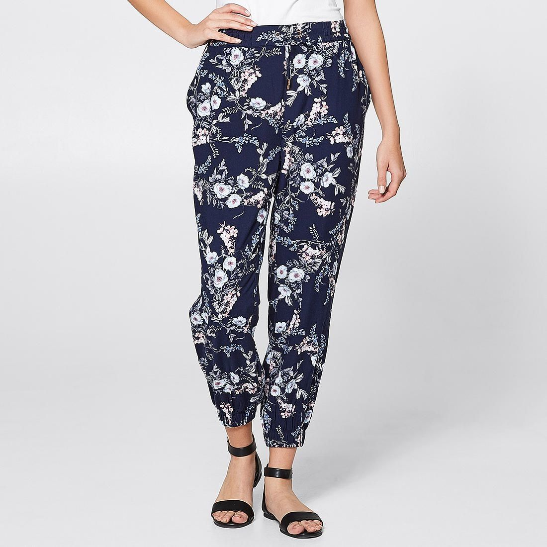 Soft Jogger Pants Navy Floral Jogger pants, Spring