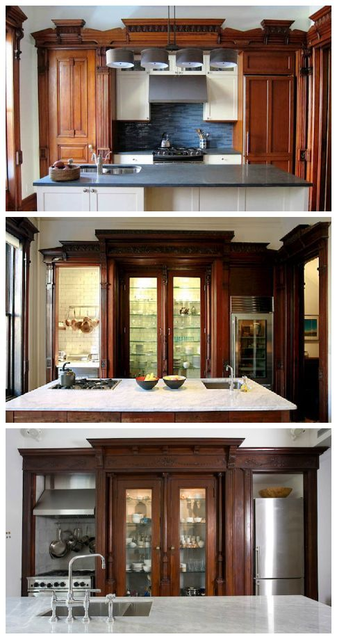 kitchen-design option... and some seriously fancy kitchens Planning our DIY kitchen remodel… I love the idea of using salvaged or repurposed materials in place of traditional kitchen cabinets.Planning our DIY kitchen remodel… I love the idea of using salvaged or repurposed materials in place of traditional kitchen cabinets.