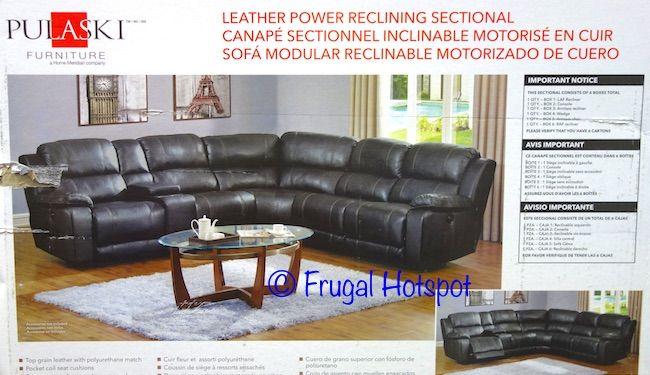 costco pulaski furniture leather power