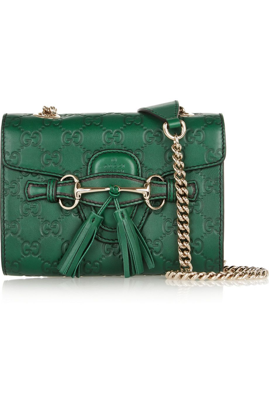 Gucci Emily mini embossed leather shoulder bag NET-A-PORTER.COM