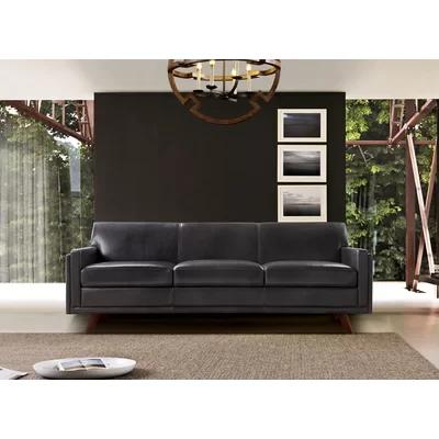 Ari Genuine Leather Modern Leather Sofa Reviews Allmodern Mid Century Leather Sofa Mid Century Sofa Modern Leather Sofa