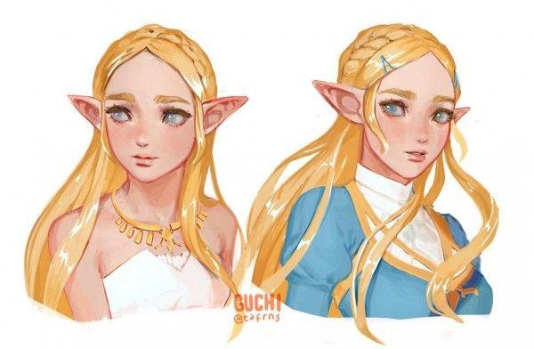 Portraits princesse zelda dessin guchi jeuvideo - La princesse zelda ...