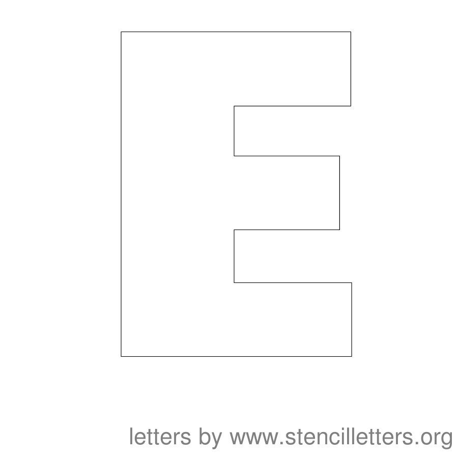 12 Inch Stencil Letter Uppercase E | VBS 2017 | Letter stencils