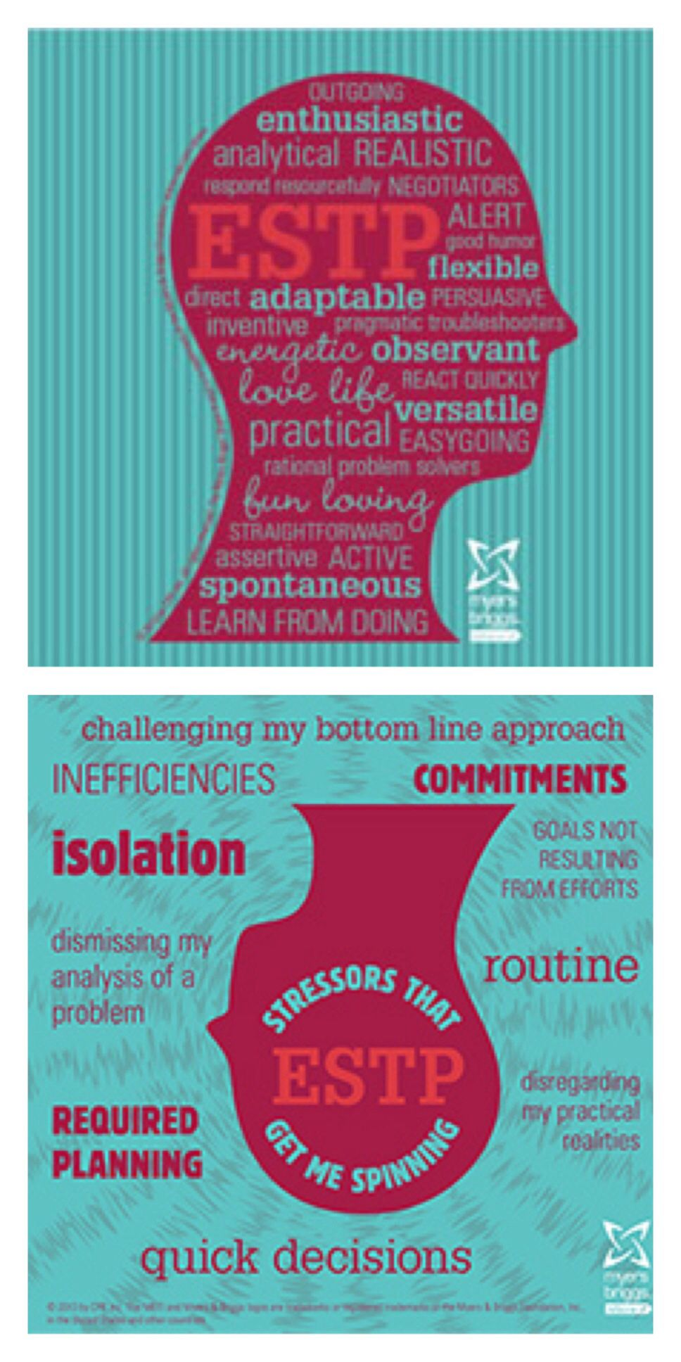 Estp Type And Stress Heads Matters Of The Mind Pinterest