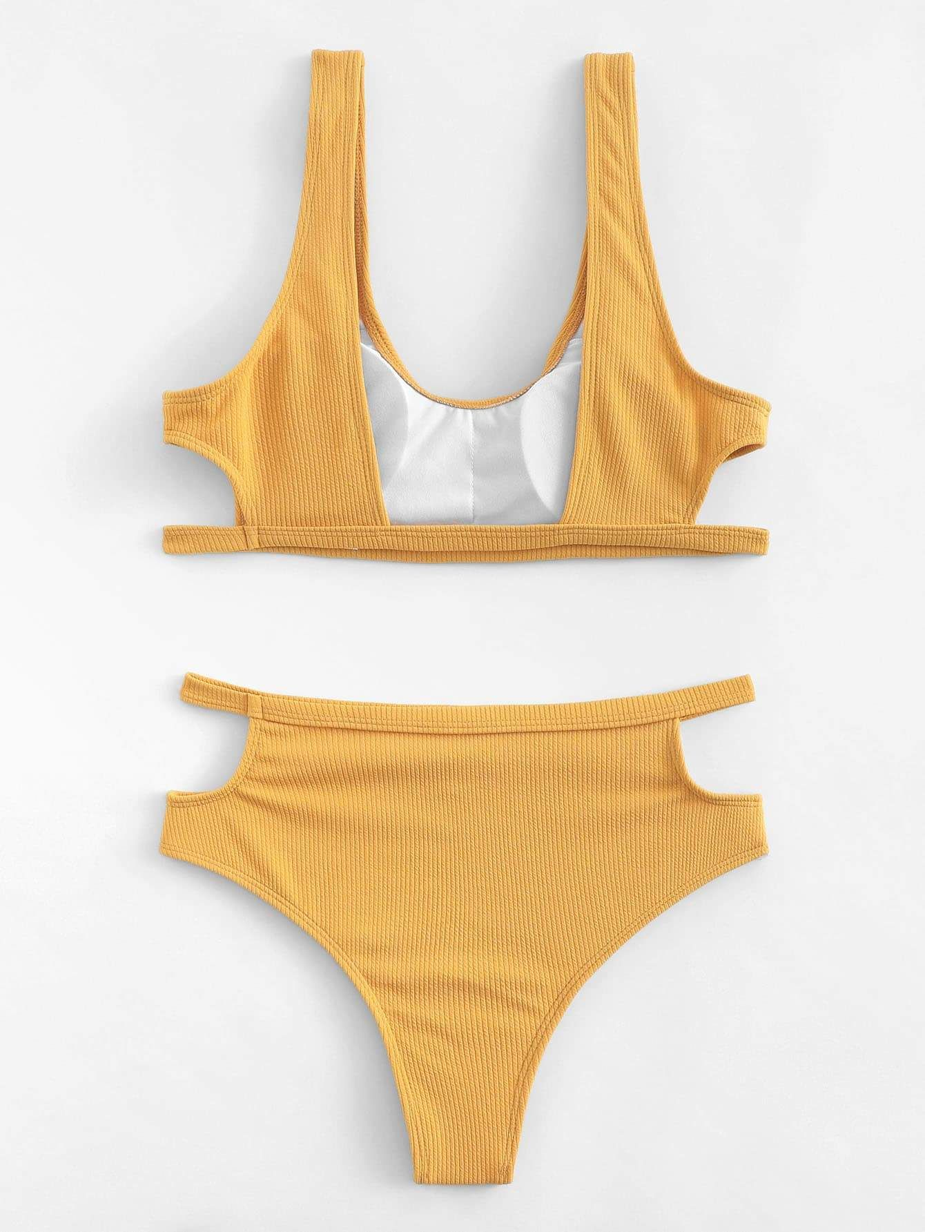 de2c3b7d7d4410 Cut Out Top With Ribbed Bikini Set in 2019 | Bikini's ...a Summer ...