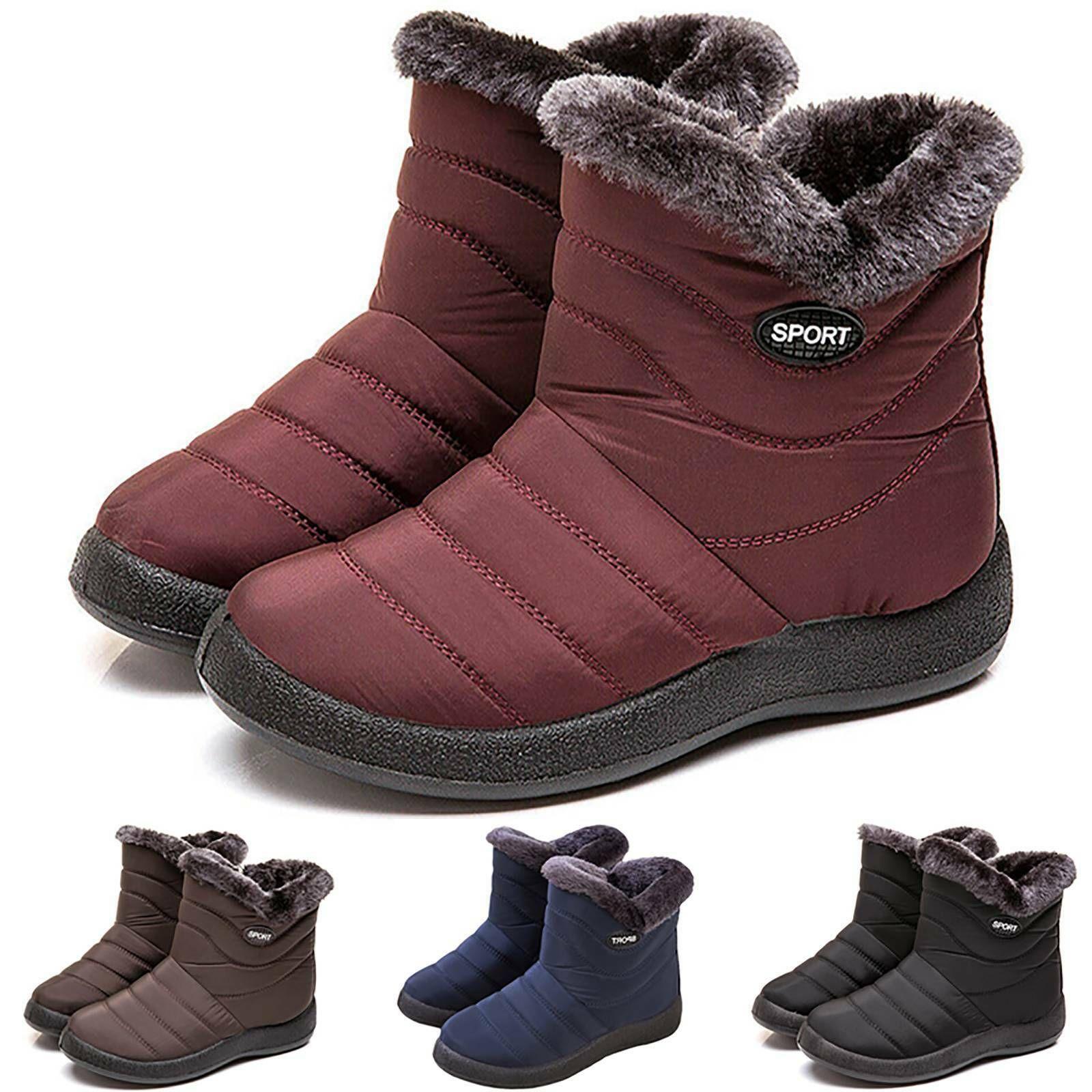 Damen Flat Boots Stiefel Winterstiefel Wasserdicht Gefuttert Thermo Schneeschuhe Ebay In 2020 Cozy Shoes Boots Waterproof Sneakers