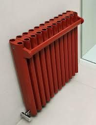 Heating is not only about efficient, but also related with artistic side of a designer. I really like how it stands out and make it present in the room. Red color also speaks for its feature.