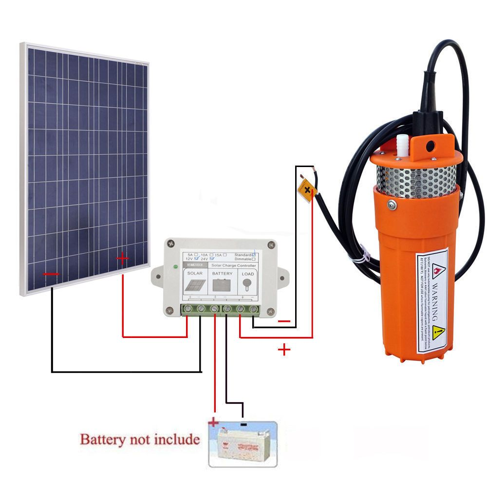 Package Include 1pc 15a Controller 1pc 100w Poly Solar Panel With 90cm Cables For Mc4 Connector 1pc 12v Water Pump Solar Water Pump Solar Heating Solar