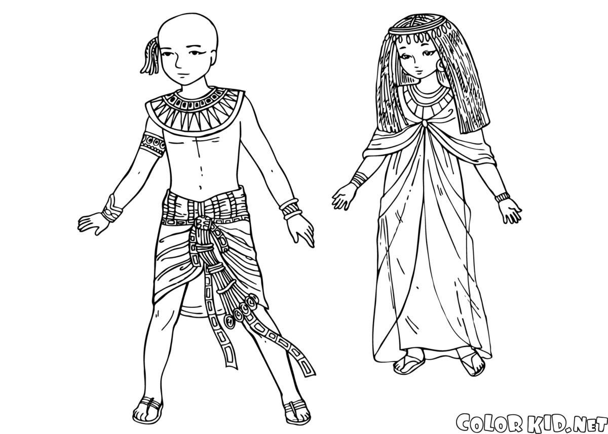 Coloring pages of children wearing afo ~ Children of Ancient Egypt | #OlympicLab | Pinterest ...