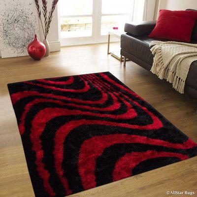 Allstar Rugs Hand Tufted Red Black Area Rug Products Rugs Area