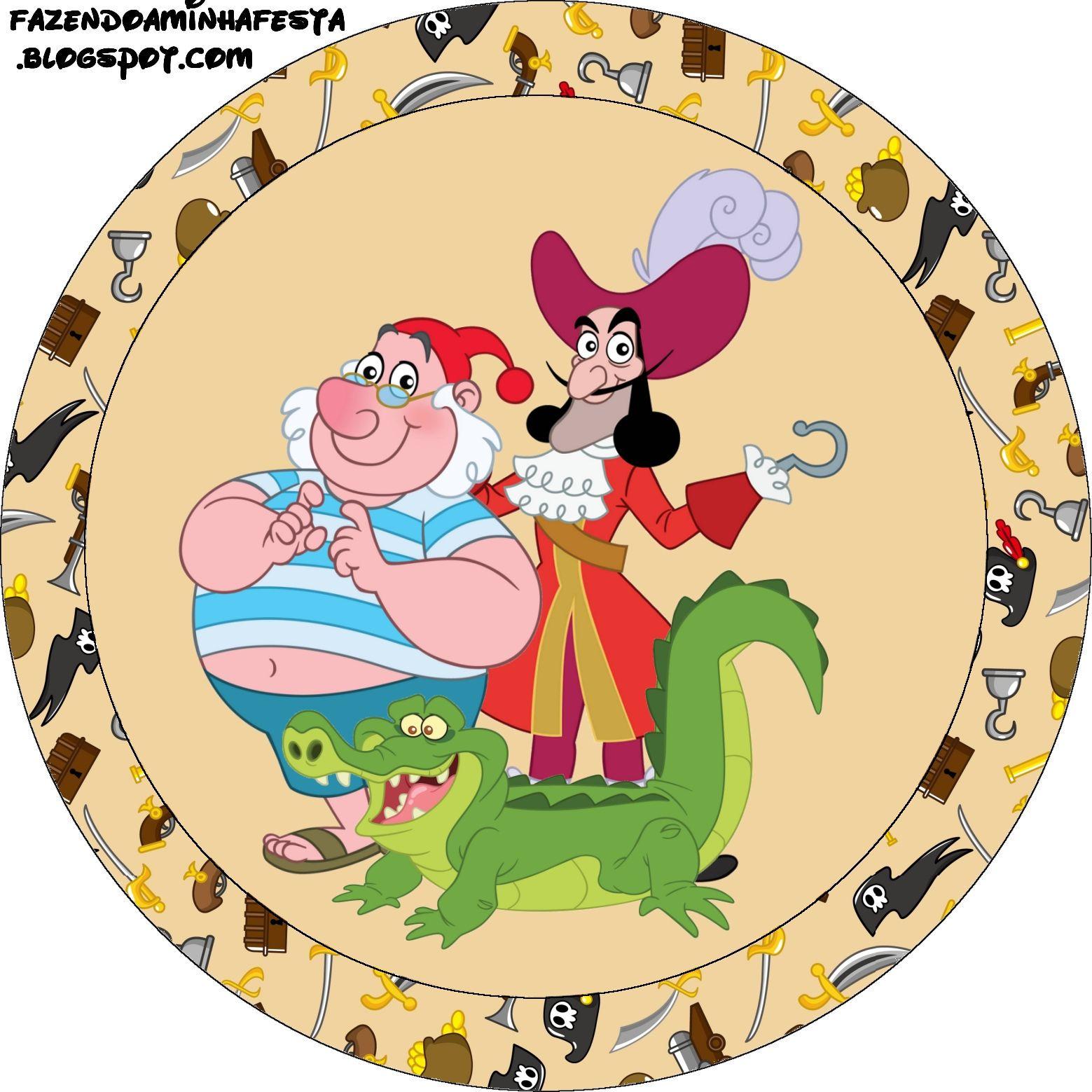 Decoraci n jake y los piratas de nunca jam s pictures to pin on - Etiquetas Imprimibles De Jake Y Los Piratas De Nunca Jam S