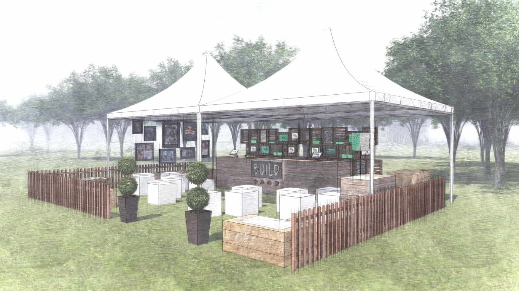 Mike Bell Freelance 3d Event Designer Freelance 3d Experiential Designer Freelance 3d Exhibition Designer Freelanc Outdoor Outdoor Events Outdoor Structures