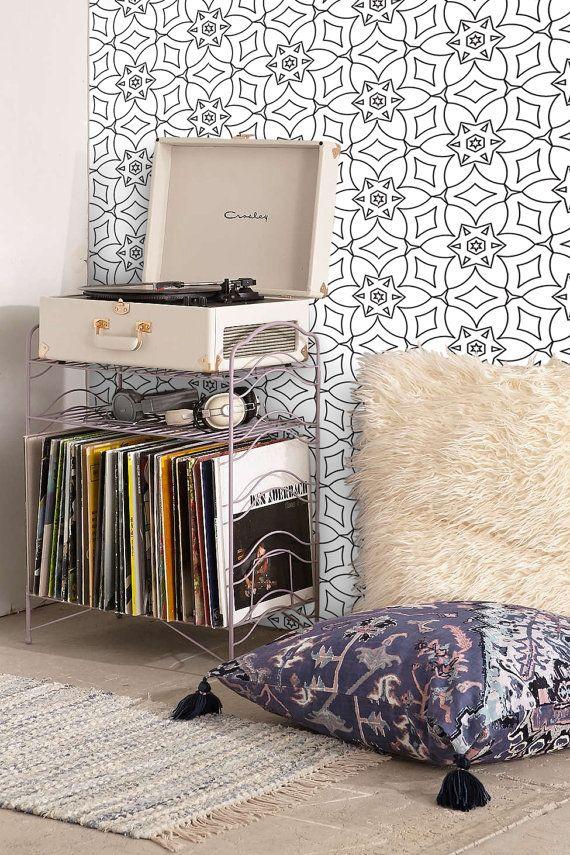 Self adhesive wallpaper 078/GEOMETRIC FLOWERS