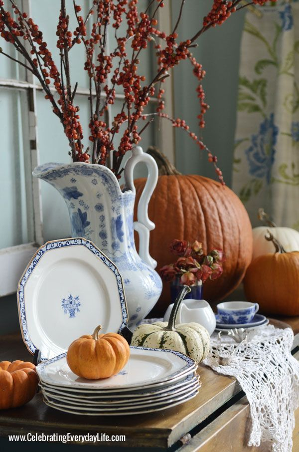 Ein Blue Willow Thanksgiving: Erntedankfest Inspiration,#erntedankfest #inspirat…