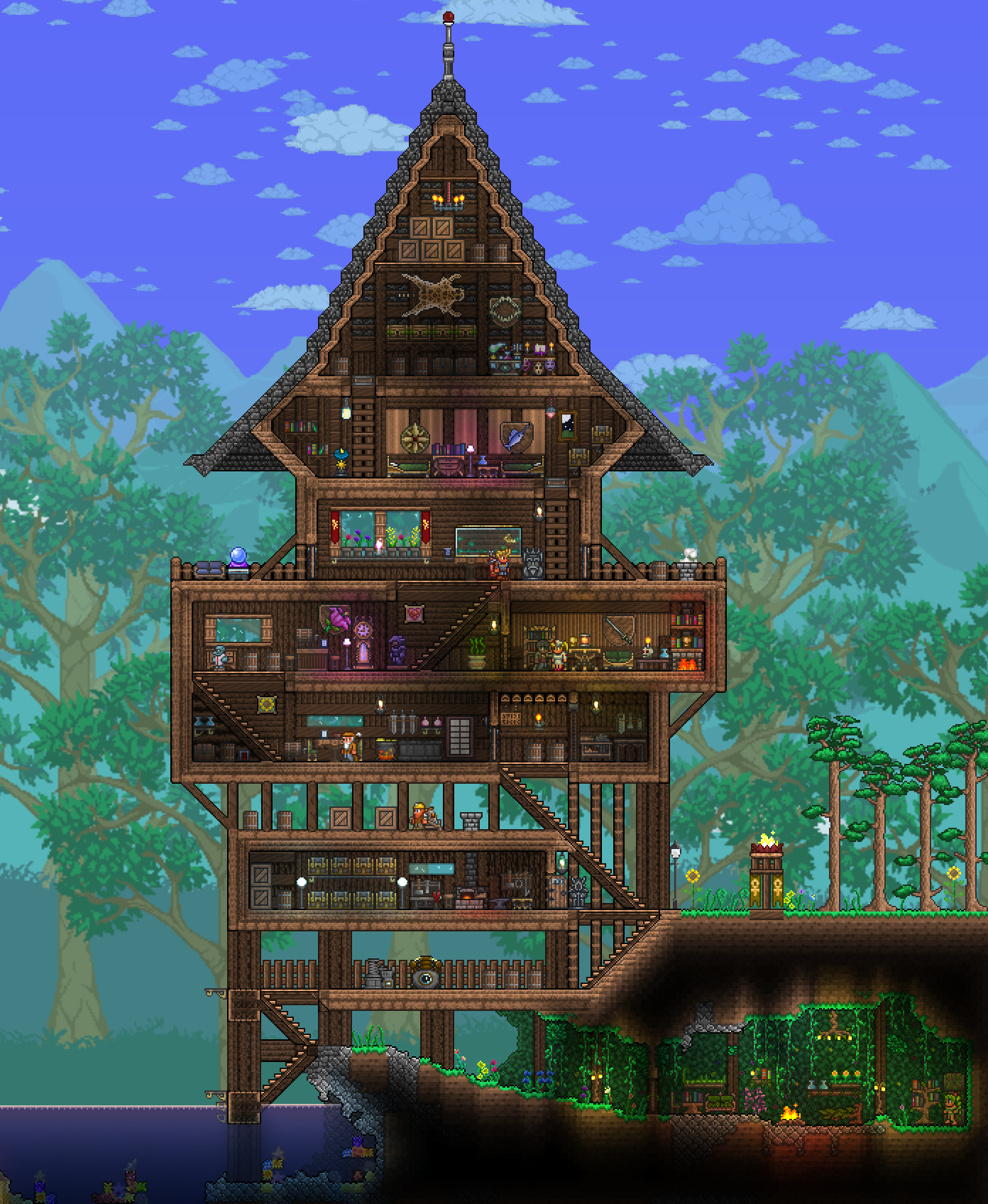 Terrarium Terraria House Design: Terraria, Gaming And
