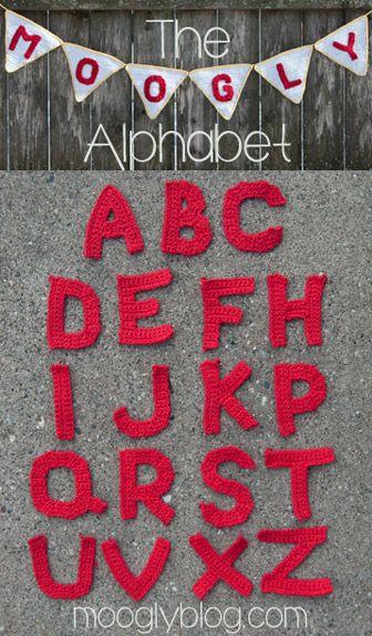 GRATIG gehaakte alfabet letters