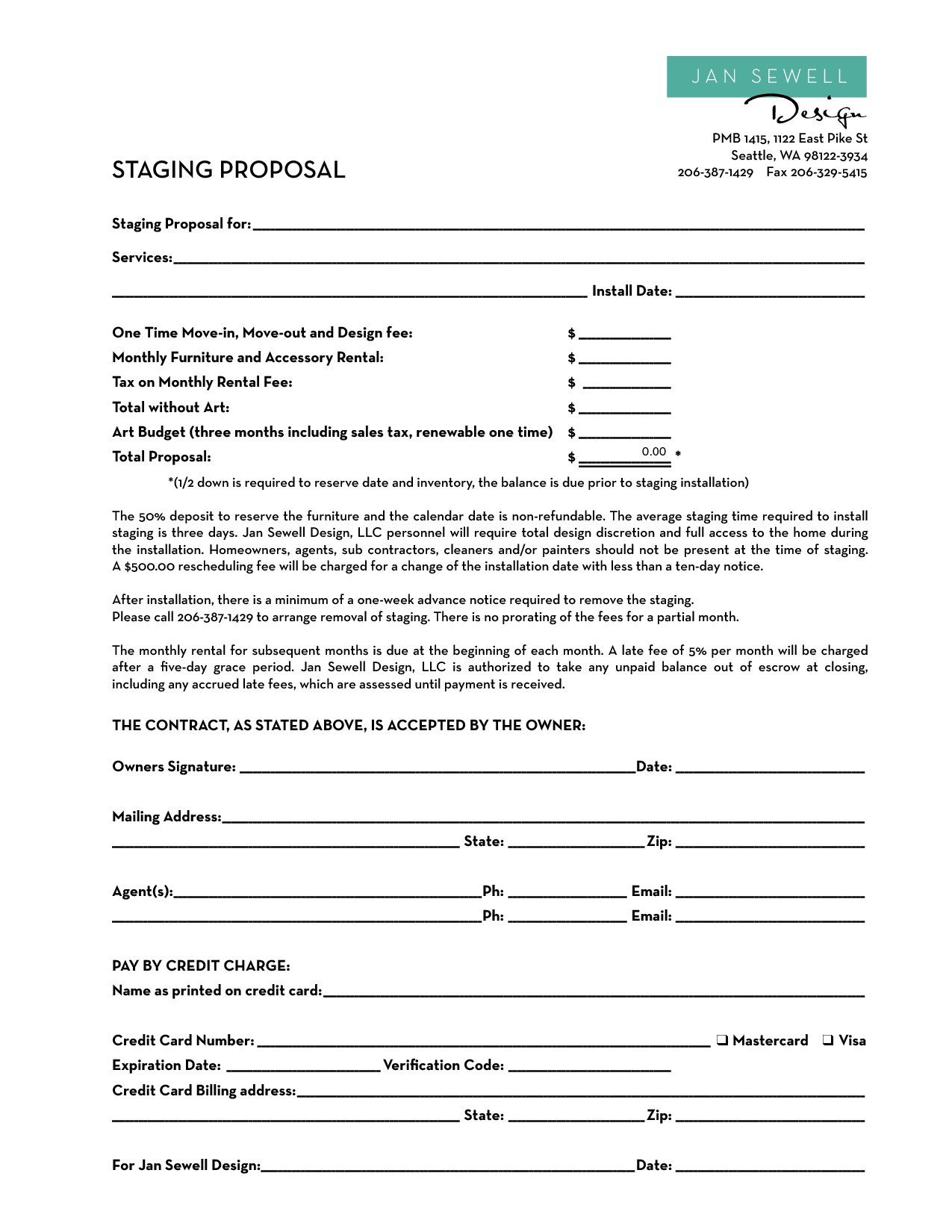 Home Staging Contract Template Bing Images Docu Contract