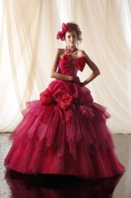 Asian inspired ball gowns