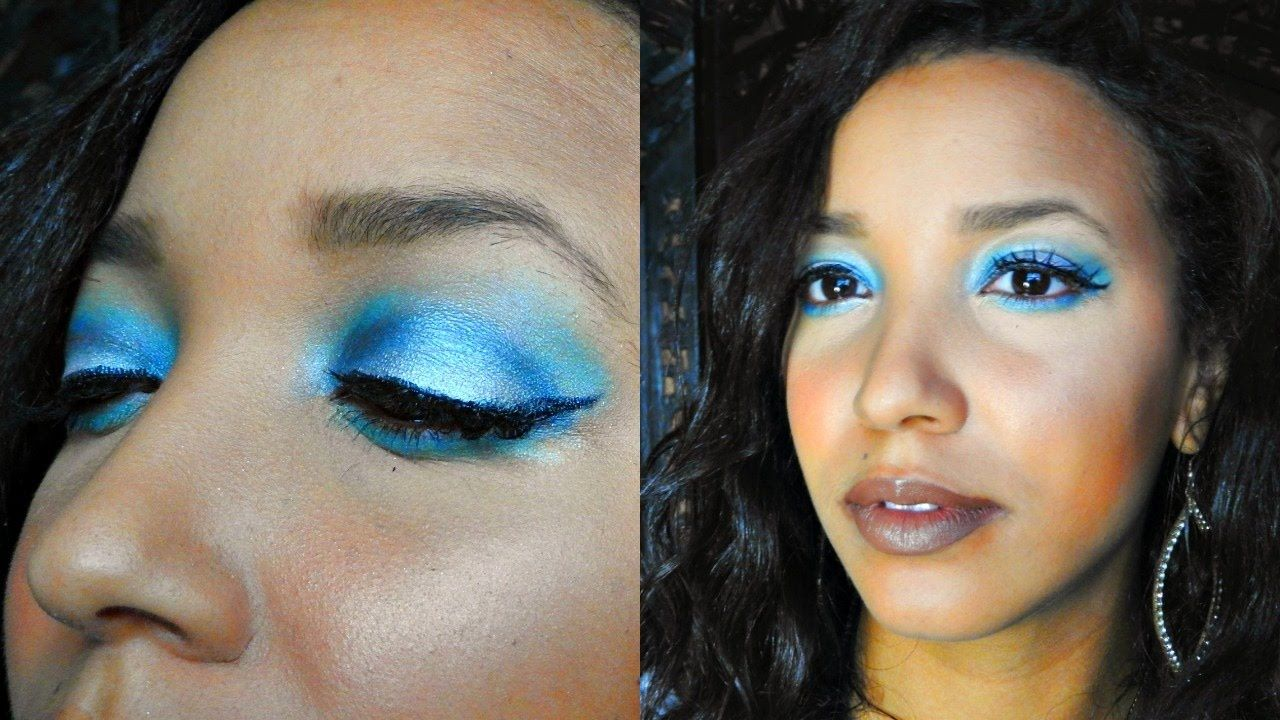 Frosty Winter Makeup     Youtuber, Winter Makeup, Frosty Winter Makeup, New Year's Makeup, Blue makeup