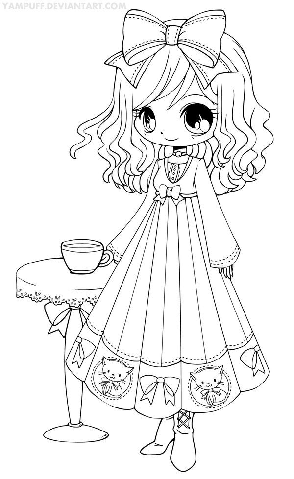 Traditionnal Art Ink Other Rozen Maiden Kanaria Belong To Peach Pit She S A Character Form Roze Chibi Coloring Pages Cool Coloring Pages Coloring Pages