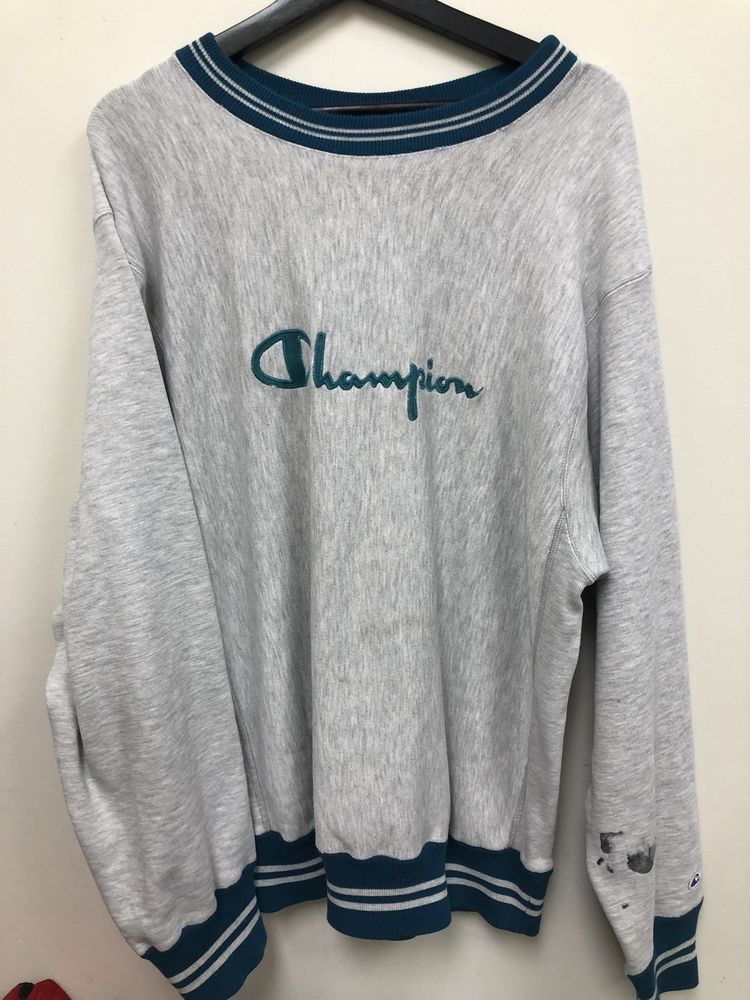 2a9f73ff7fc1 Vintage Champion Reverse Weave Spell-Out Crewneck Sweatshirt | 80s ...