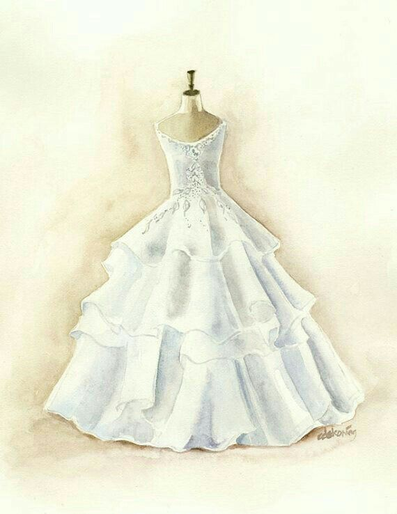 Pin By Mary Scott On Elegance Dress Painting Watercolor