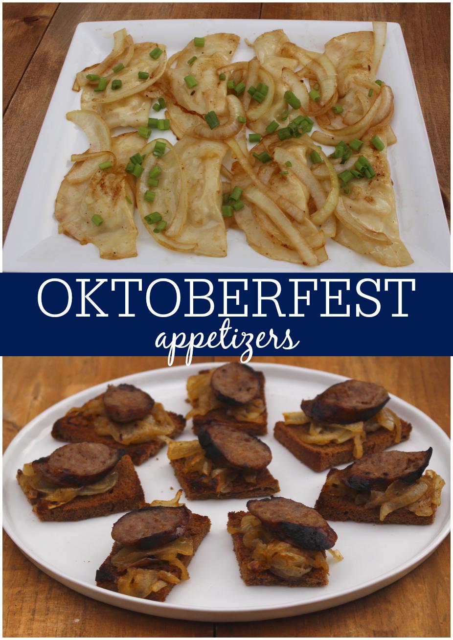 Oktoberfest appetizers homemade pierogies with a shortcut and oktoberfest appetizers homemade pierogies with a shortcut and bratwurst toasts forumfinder Choice Image