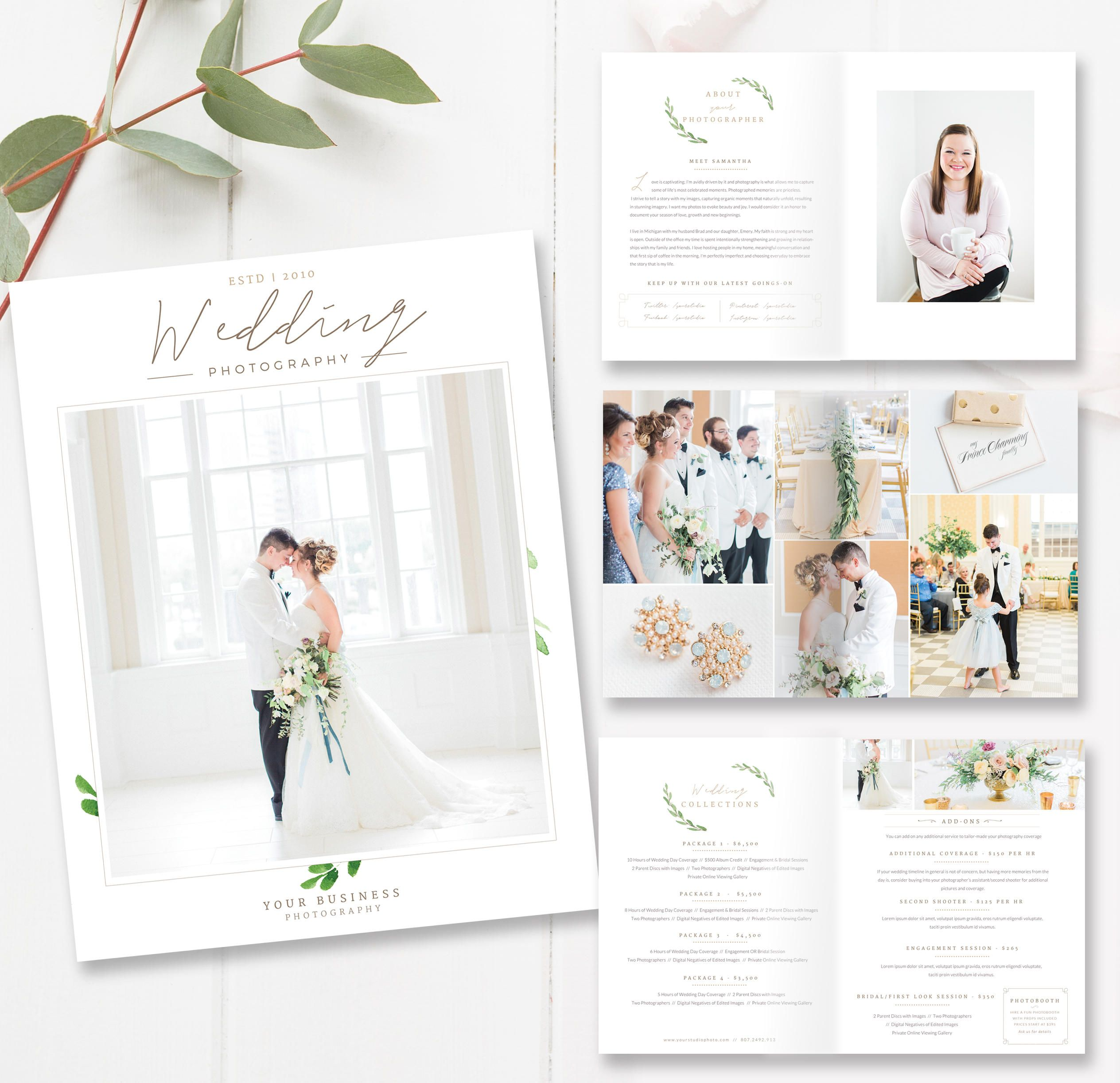 Wedding Photographer Magazine Template, Photo Stu