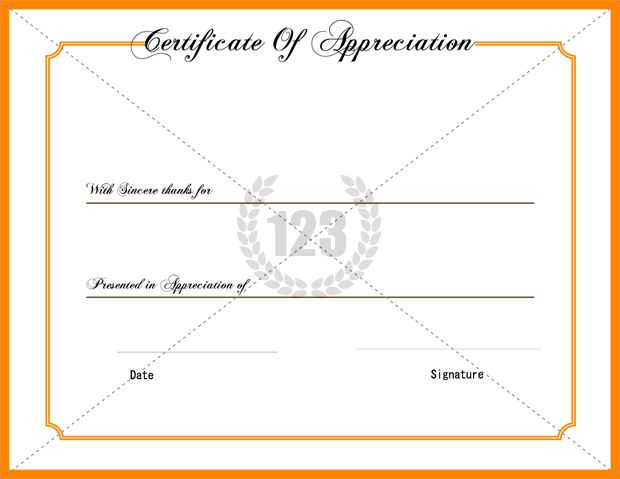 Best Appreciation Certificate Templates Free and Premium Download - blank certificates templates free download