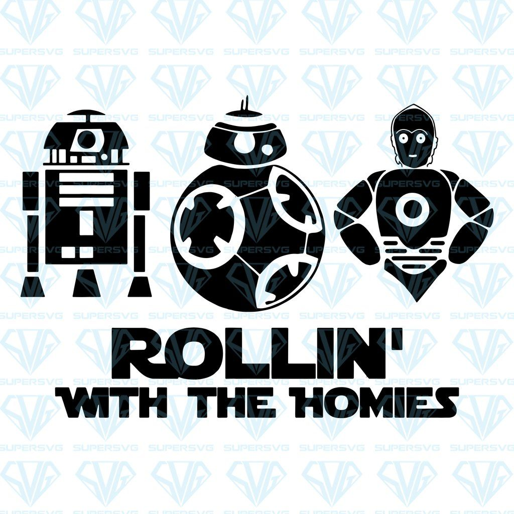 Rollin' With The Homies SVG Files For Silhouette, Files