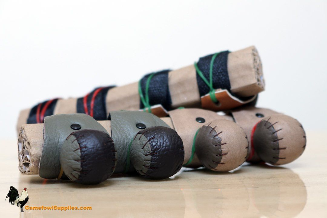 Premium Gamefowl Sparring Muffs Velcro - Botadores De Gallo