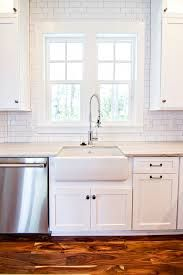 Image Result For White Subway Tile Around Kitchen Window Farmhouse Sink Kitchen Kitchen Sink Design White Subway Tile Backsplash
